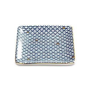 Mini Prato Decorativo quadrado Azul