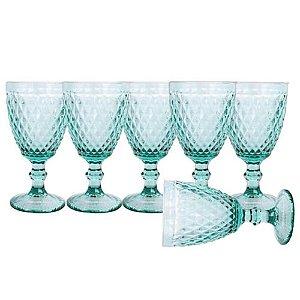 Jogo de 6 Taças Água Azul Tiffany - Mimo Style