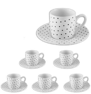 Conjunto 6 Xícaras de Café Poá - Hauskraft