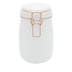 Pote Hermético Clip Branco 17 cm