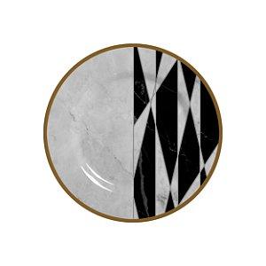 Prato Sobremesa Marble Geometric