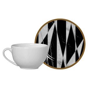 Xícara de Chá Marble Geometric