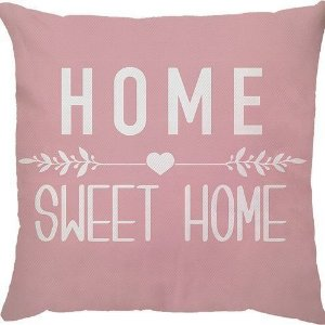 Capa de Almofada Home Sweet Home Rosa