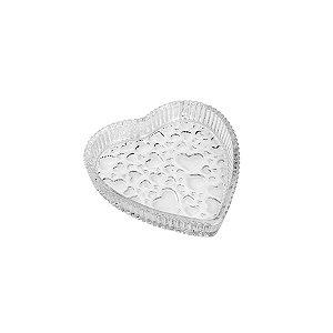 Petisqueira de Cristal de Chumbo Coração Heart
