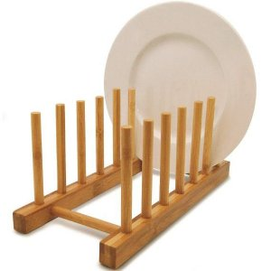 Porta Pratos Bambu - 6 Pratos