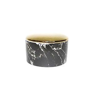 Porta Jóia Mármore Preto de Cerâmica