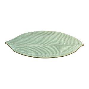 Travessa de Cerâmica Leaf Folha Grande