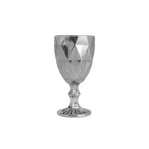 Jogo de 6 Taças Água Diamond Cinza Metalizado
