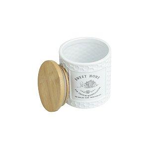 Pote de Cerâmica Sweet Home de Madeira 500 ml