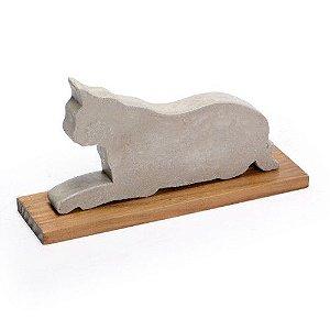 Escultura de Concreto Gato Pequeno