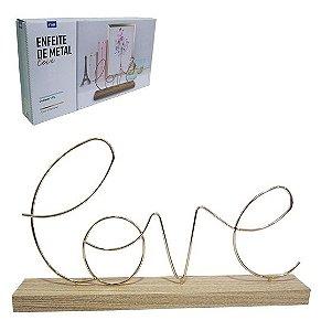 Palavra Love com Base de Madeira