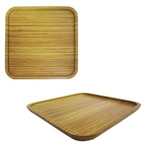 Bandeja de Bambu Quadrada 25cm