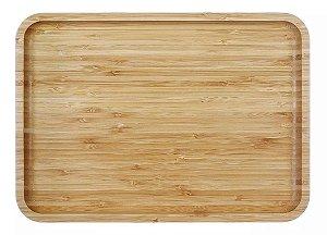 Bandeja de Bambu Retangular 30cm