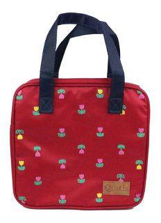 Bolsa Térmica Floral Vermelha Média