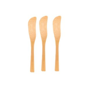 Conjunto com 03 Espátulas Para Manteiga de Bambu