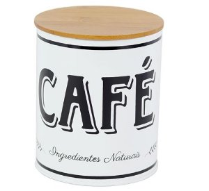 Lata Para Café Branco e Preto