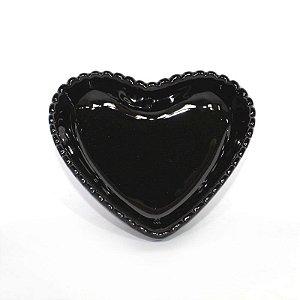 Travessa de Coração Borda Decorada Preta 13 cm