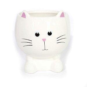 Cachepot de Gato Branco