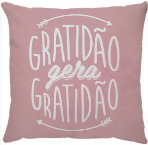 Capa de Almofada Gratidão Gera Gratidão