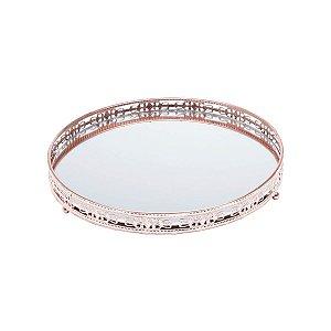 Bandeja de Ferro Com Espelho Bunch Bronze
