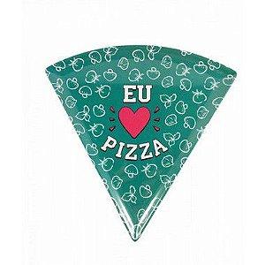 Prato de Pizza Melamina Verde