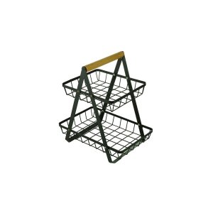 Cesta de Metal Double Deck Wire Preto
