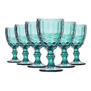 Jogo de 6 Taças Água Azul Tiffany Laço - Mimo Style