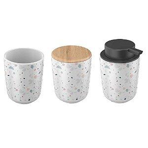 Kit com 3 peças para Banheiro Osaka Granelite - Yoi