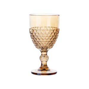 Taça Para Água de Cristal de Chumbo Coração Âmbar Metalizado - Unidade