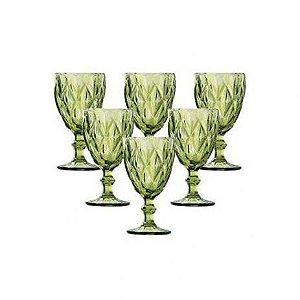 Jogo de 6 Taças Vinho Verde Vitral Verre - Mimo Style