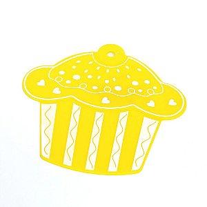 Descanso Panela de Silicone Cupcake Amarelo
