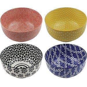 Conjunto de Cumbucas de Porcelana Coloridas Grandes