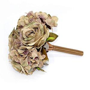Ramalhete Flores de Outono Fendi Rosada