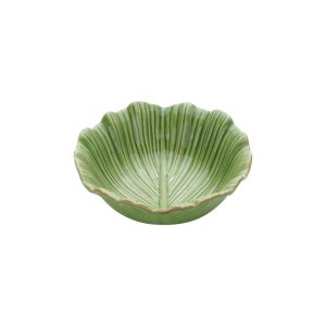 Travessa de Cerâmica Banana Leaf  Verde 17,5 cm
