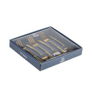Conjuntos 06 Garfos de Sobremesa Dourado Berna - Wolff