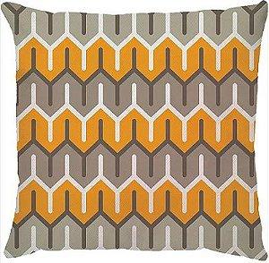 Capa Almofada Amarela e Cinza