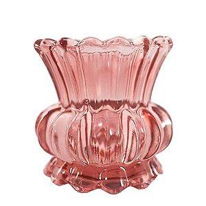Vaso de Vidro Marsala Clássico