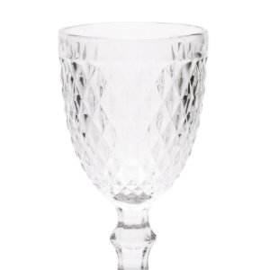 Jogo de 6 Taças Água Bico de Abacaxi Transparente - Lyor