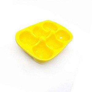 Porta Ovos de Cerâmica Amarelo