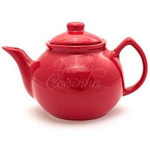 Bule de Chá Bojudo Vermelho