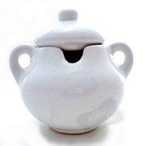 Açucareiro de Cerâmica Branco