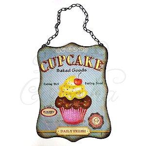 Quadrinho Decorativo Cupcake