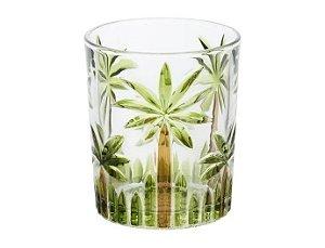 Conjunto de 06 Copos de Vidro Baixo Palm Hand - Rojemac