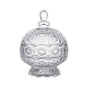 Potiche Decorativo com Pé de Cristal de Chumbo Sun