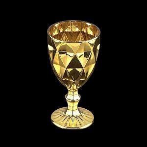 Jogo de 6 Taças Água Diamond Dourada - Lyor