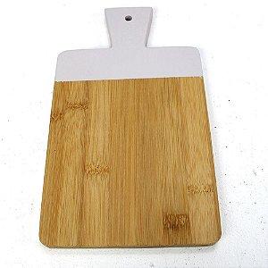 Tábua de Corte Bambu com Cinza Claro