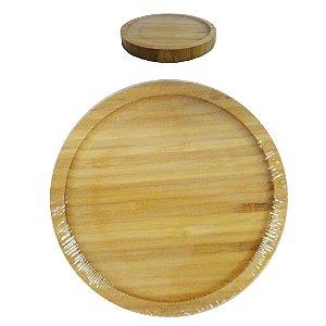 Bandeja de Bambu Redonda 14 Cm