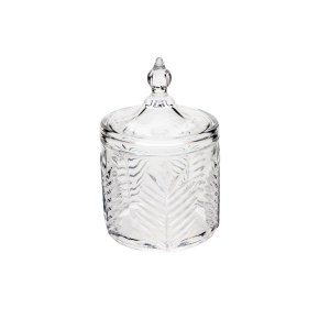 Potiche Decorativo de Cristal de Chumbo Palmera