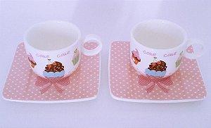 Xícaras de Café - CupCake - Dupla