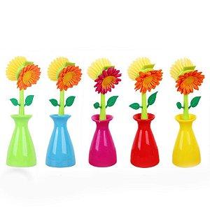 Escova Flor com Vaso
